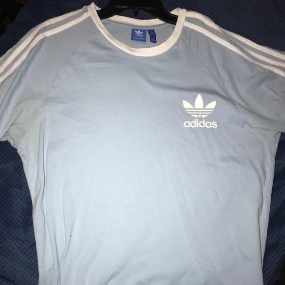 Baby Blue Mens Adidas T shirt